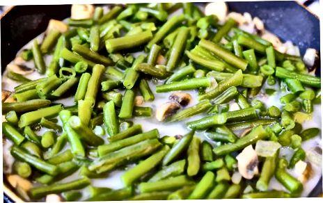 Cocinar una cazuela de judías verdes sin gluten