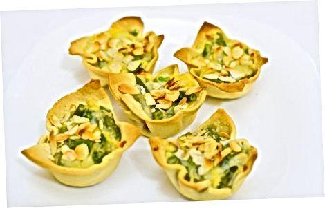 Cocinar mini cazuelas de judías verdes sin gluten