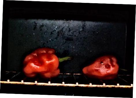 Печење црвене паприке у рерни