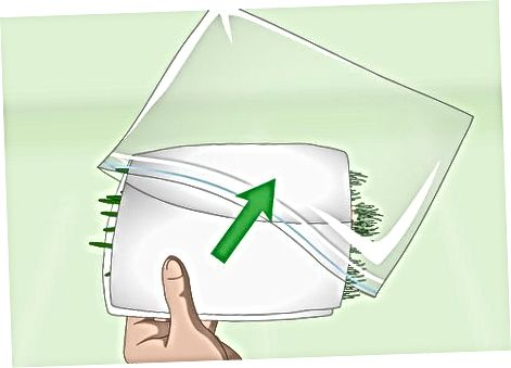 Загортання зеленого лука у вологе паперове рушник