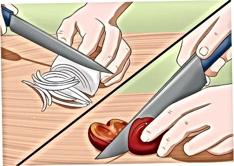Prepping grænmetið