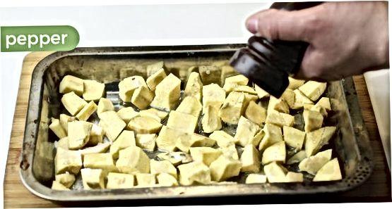 Sült édes burgonya készítése