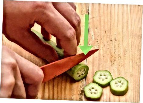 Okra kochfertig machen