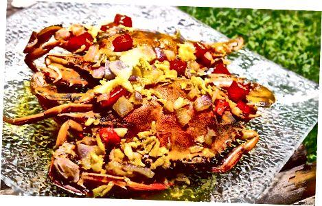 آشپزی خرچنگ ها