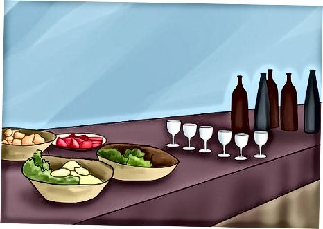 Elaboració d'un bufet amb menjar
