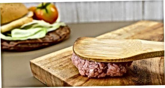 Gatim Burger Flat në një skarë