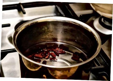 Cozinhar feijão vermelho seco