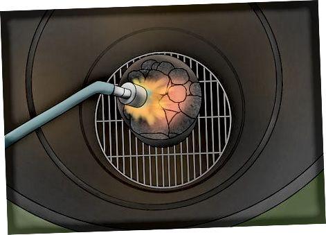 Cuinant amb un fumador d'aigua de carbó