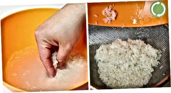Lavagem do arroz