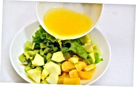 Oransje kiwifrudsalat