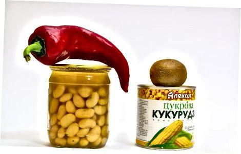 Ristet mais- og kiwifrudsalat