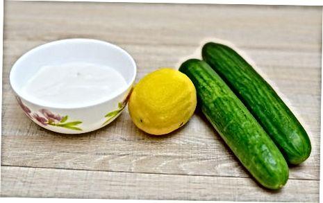 Príprava na uhorkovú omáčku