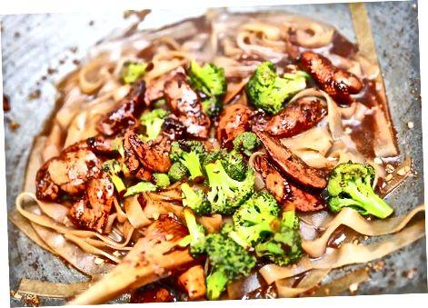 Methode twee: Chicken Chow Fun