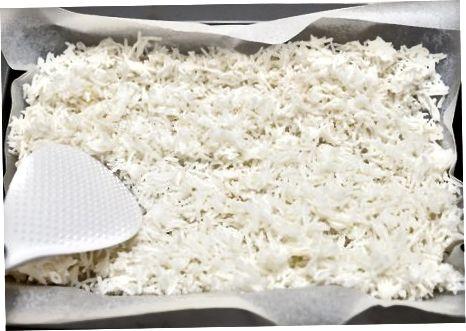 De rijst bereiden
