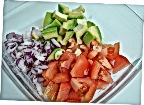 დამზადება ავოკადო Feta Salsa