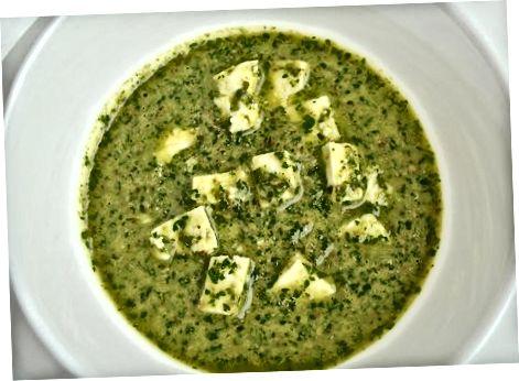 დამზადება Feta Salsa Verde