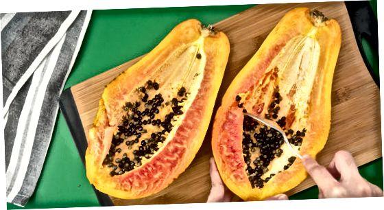 Papaya urug'larini quritish va maydalash