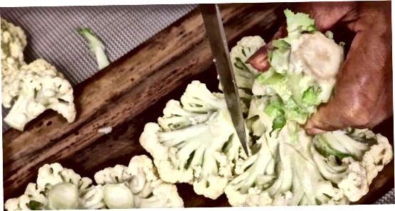 ღრმა ფრიდული ყვავილოვანი კომბოსტო