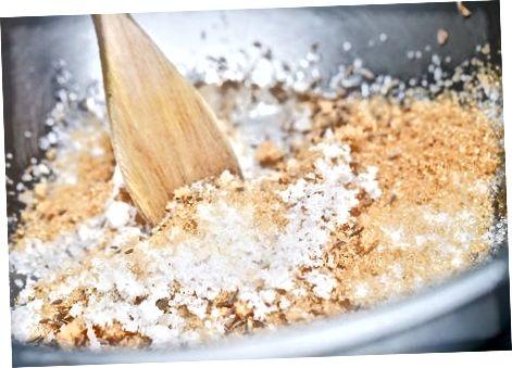 Trockene Salzlake herstellen