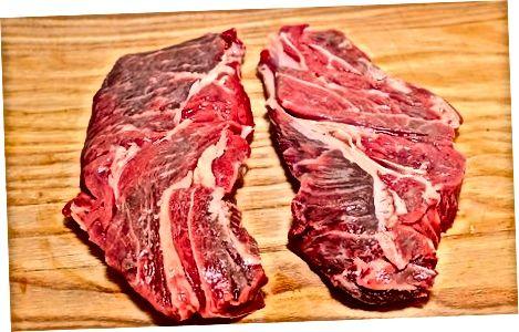 Sirloin biftekini pishirishga tayyorgarlik