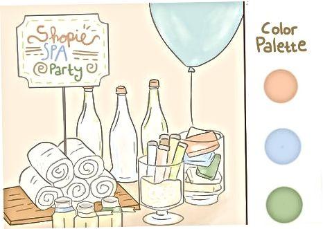 स्पा पार्टी की तैयारी