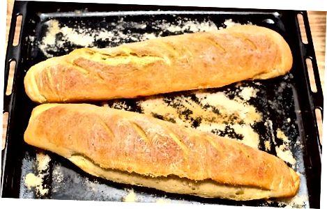 Het brood bakken