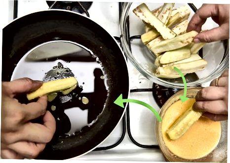 הכנת פרמזן חציל איטלקי מסורתי