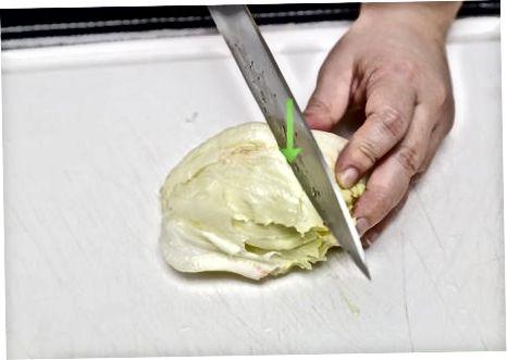 Резање салате у танке тракице