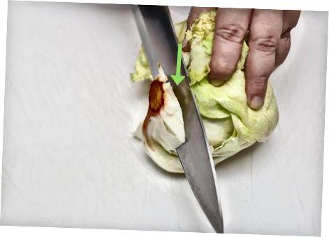 Резање салате са прерадником хране