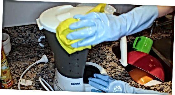 Čiščenje kavnega aparata po vsaki uporabi