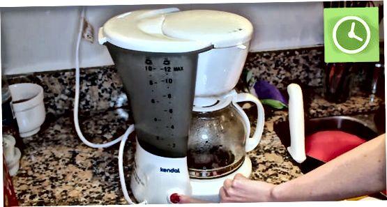 Globoko čiščenje kavnega aparata