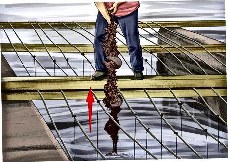 Duke përdorur litarë për të mbledhur midhjet në ujërat e thella