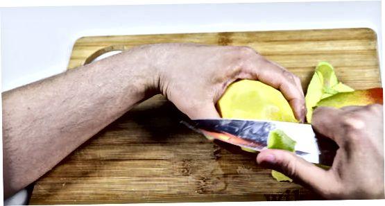Mango lupimas peiliu