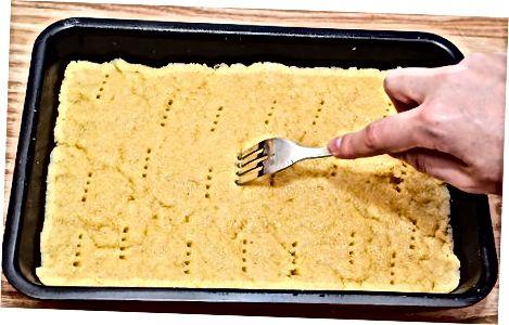 Naredite sloj kratkega peseka