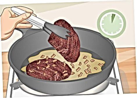 Panearyear marinadlangan elk biftekini tayyorlash