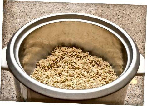 Porsjonering og skylling av ris