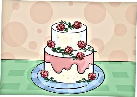 Uporaba cvetja za okrasitev torte