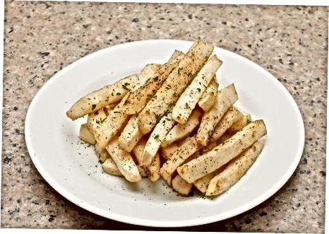 Paruoštos keptos ropių bulvytės