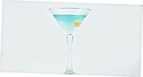 Jin ko'k Martini yasash