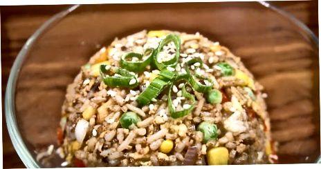 تلی ہوئی چاول کو ختم کرنا