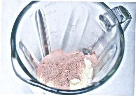 Een chocolade Nesquik milkshake maken