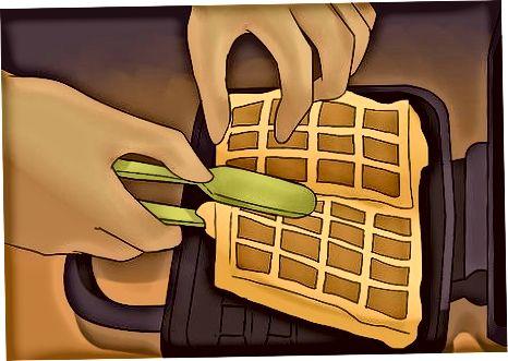 Marrja e waffles nga zeroja