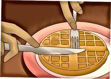 Ushqimi i një Waffle mënyra Themelore