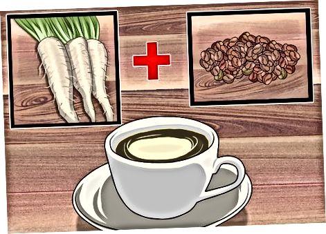 Witlof mengen met koffie