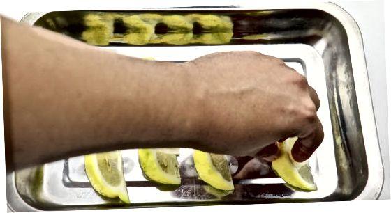 Muzlatilgan limon tilimlarini tayyorlash