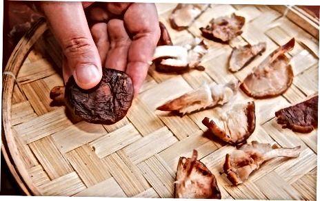 Pilze natürlich trocknen