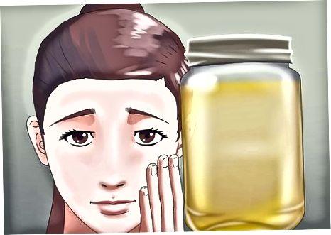 Usando óleo de amêndoa
