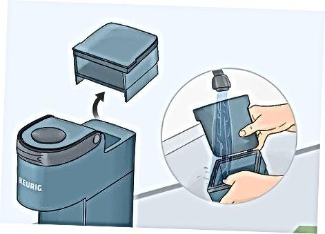 تمیز کردن ناحیه جام و مخزن آب قابل جابجایی