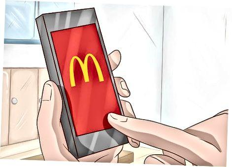 """""""McDonald's"""" programos naudojimas maistui pasiimti"""
