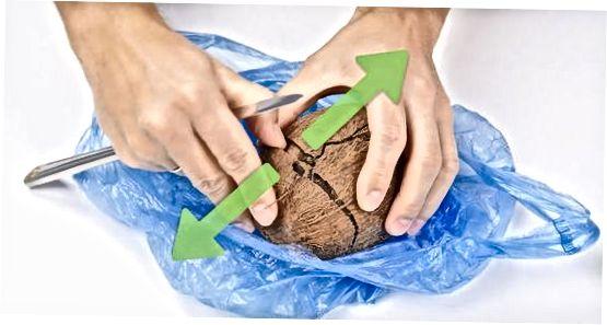 Copëtimi i arrës së kokosit me një procesor ushqimi
